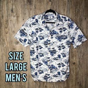 Tropical men's short sleeve shirt